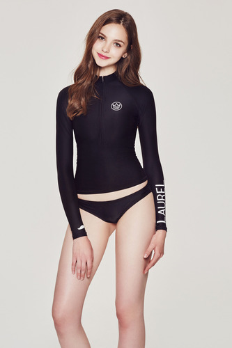 [WR-3] ZIP UP RASHGUARD BLACK