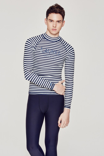 [MR-1] RASHGUARD NAVY_STRIPE
