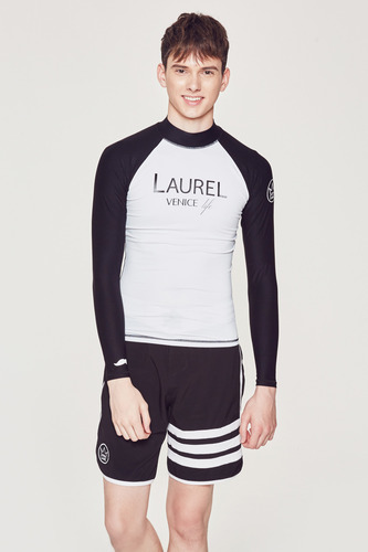 [MR-1] RASHGUARD WHITE_BLACK