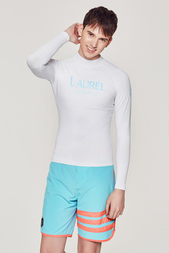 [MR-1] RASHGUARD WHITE (printed Mint)