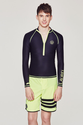 [MR-2] ZIP UP RASHGUARD NAVY